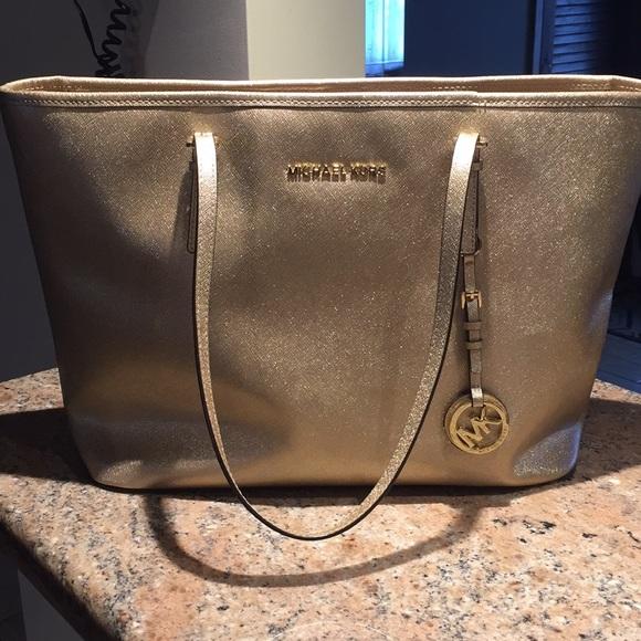 Michael Kors Handbags - Michael Kors Saffiano Leather Jet Travel Tote
